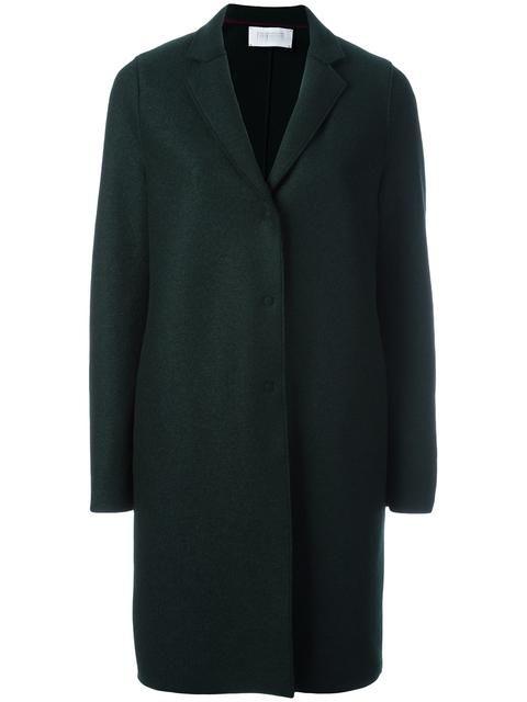 HARRIS WHARF LONDON concealed fastening coat. #harriswharflondon #cloth #coat