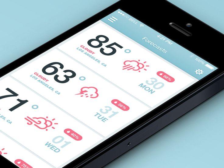 iOS7 Weather App | #ui