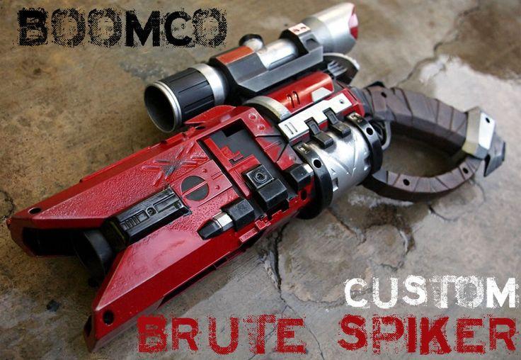 BOOMCO SPIKER PROP GUN + Nerf Scope, New - Custom Painted Halo / Sci-fi Cosplay | eBay