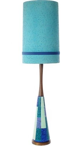 Monumental Mid Century Modern Italian Pottery Table Lamp