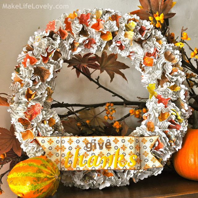 I am so excited to share with you how to make this easy DIY fall thanksgiving wreath.  I whipped it up yesterday morning in under two hours from start to finish, less time than it took the kids to watch Star Wars!  It is so easy, is made from punched paper, and cost me only … … Continue reading →