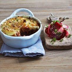 Louises køkken: Hakket oksekød med rodfrugtelåg og parmesan