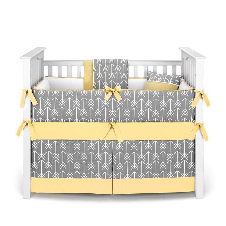 Neutral Crib Bedding / Boy or Girl Baby Crib Bedding - Arrows Gray Yellow - Crib Bedding Set by Sofia Bedding by SofiaBedding on Etsy https://www.etsy.com/listing/483060573/neutral-crib-bedding-boy-or-girl-baby