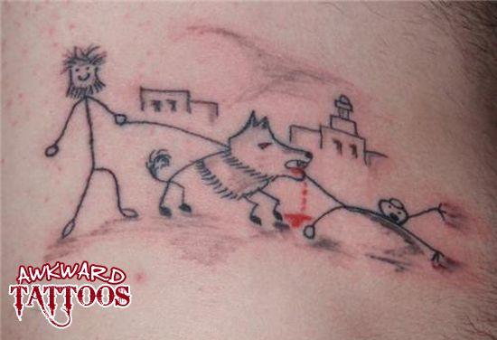 Stick figures dog tattoo fina tatueringar pinterest for Funny dog tattoos