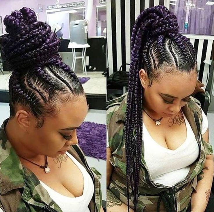 Peachy 1000 Ideas About Black Braided Hairstyles On Pinterest Braided Short Hairstyles Gunalazisus