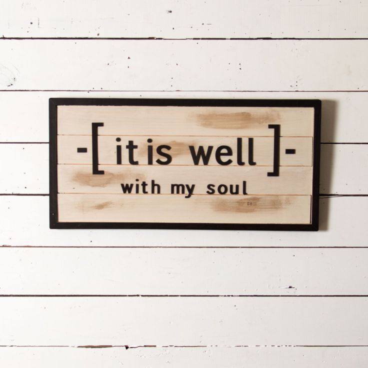 """It is Well"" Shiplap Sign - Magnolia Market 