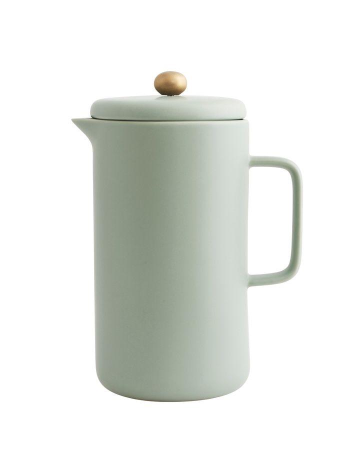 Porcelánová konvice na kávu - mint/grey / kitchenette shop
