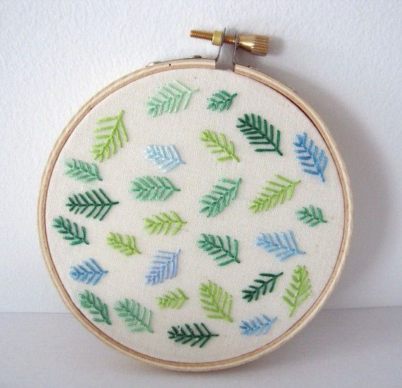 I love nature embroidery, perhaps could use this motif with a more complicated image.