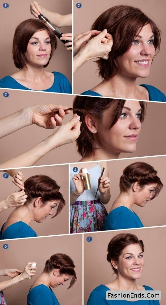 Easy & stylish hairstyle for short hair