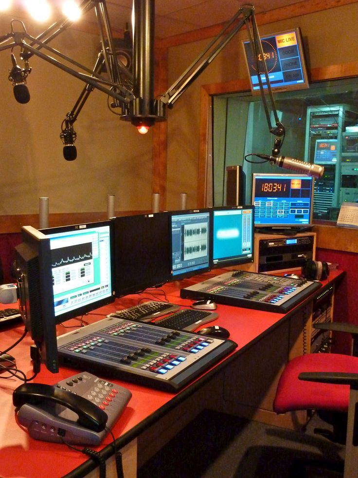 Host My Own Radio Show That Plays On The Actual Radio Challenge 2 Entry Click Through To View Original B Radio Design Podcast Studio Music Studio Room