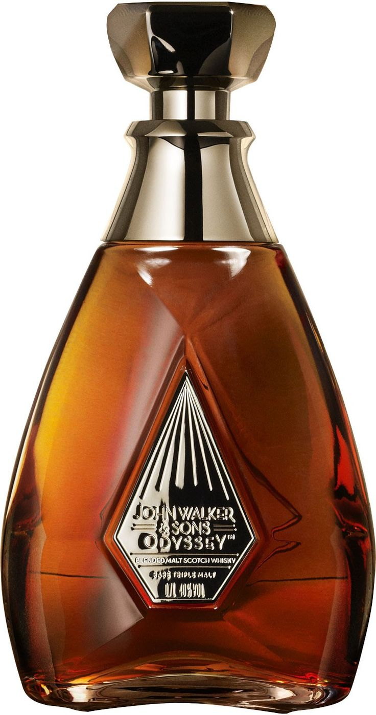 John Walker & Sons Odyssey Scotch Whisky.  Crafted by Master Blender Jim Beveridge, this is the first ever triple malt #Scotch #whisky from the House of Walker. | @Caskers