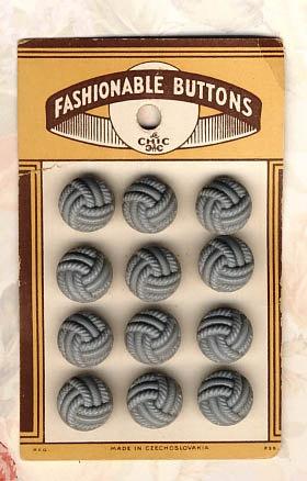 Art Deco Shop Carded Button Set