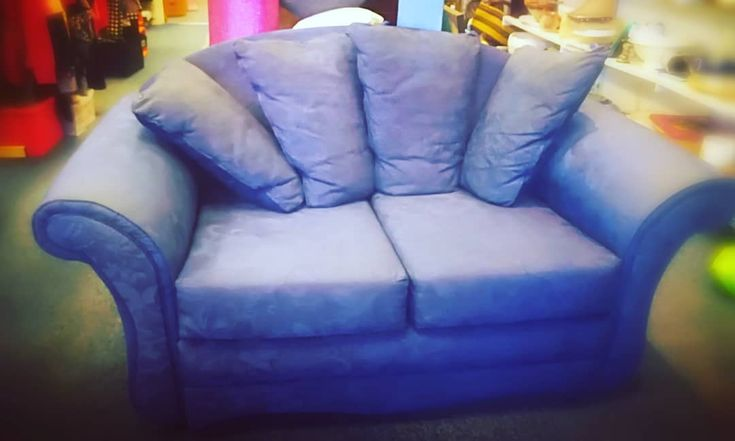 Such a neat little two seater just arrived really comfy. Gorgeous Inky Blue 70 #shoplocal #01305816607 #cosynight #perfectfortwo #sofa #stayinginisnewgoingout #movienight