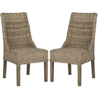 Safavieh Suncoast Unfinished Natural Wicker Arm Chairs (Set of 2) | Overstock.com Shopping - Great Deals on Safavieh Dining Chairs