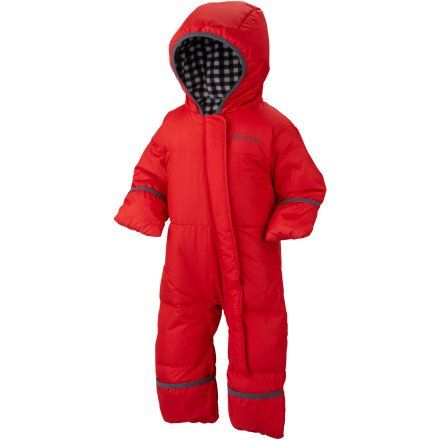 Columbia Unisex-Baby Infant Snuggly Bunny Bunting, Bright Red, 0-3 Months Omni-shield advanced repellency. Down fill insulation. Micro fleece lined hood and torso. Fold-over hands and feet. Imported.  #Columbia #Apparel