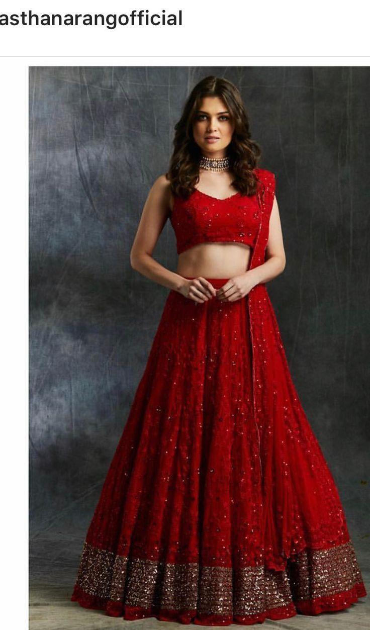 Beautifulgorgeous Red Indian Style Lehenga Rishika In