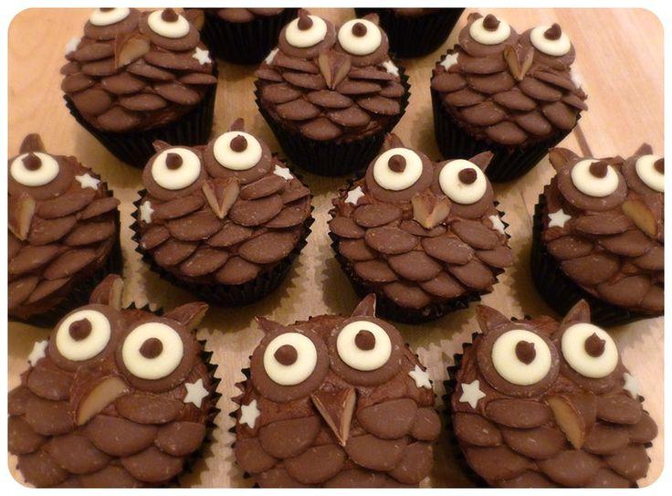 Chocolate Owl Cupcakes