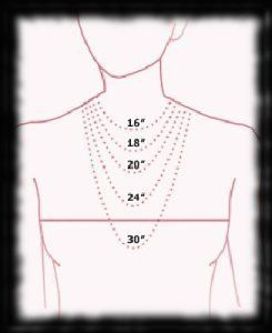 way to tell the position of the length of necklace. Could also be useful when altering or making sewing patterns.
