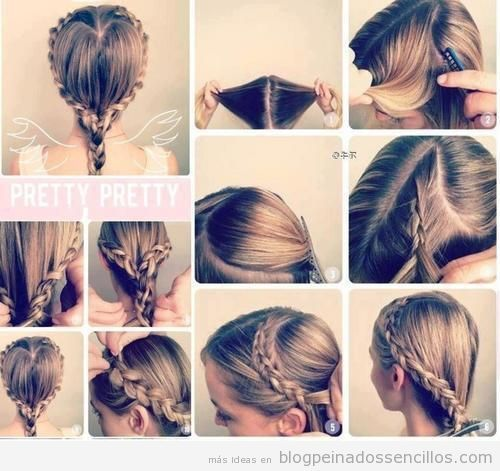 33 best images about peinados con trenzas on pinterest - Peinados faciles paso a paso ...