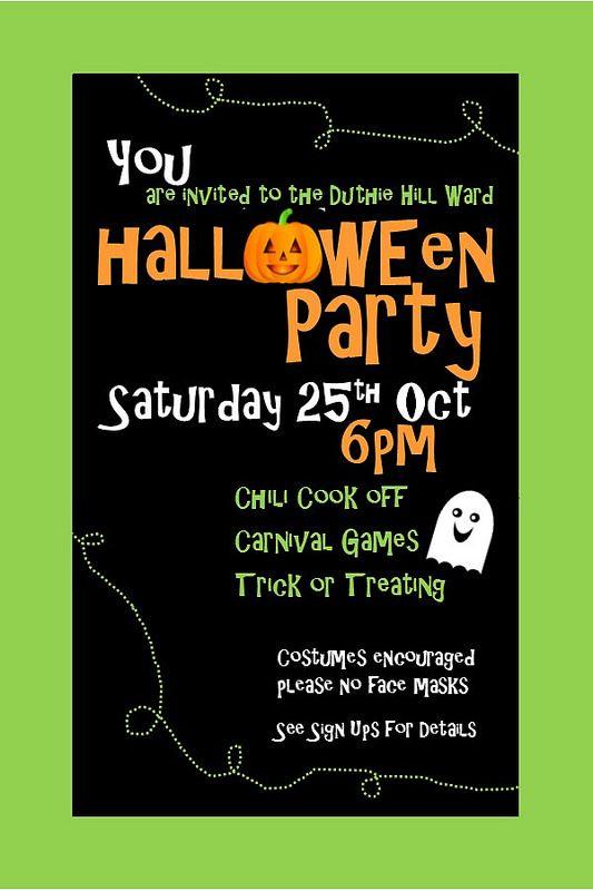 Ward Halloween Party Flyer