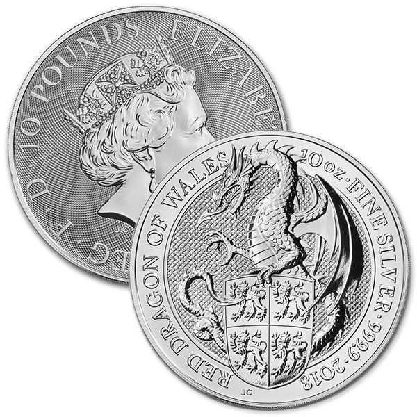 10 Oz The Red Dragon Silver Coins For Sale The Queen S Beast Money Metals Silver Coins For Sale Gold And Silver Coins Silver Coins