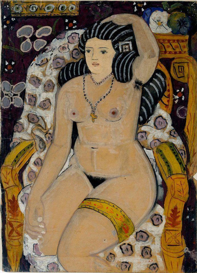 Cosmas Xenakis, Girl With Garter, 1946-7