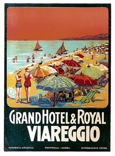 ITALY Viareggio - Grand Hotel & Royal | by Luggage Labels by b-effe