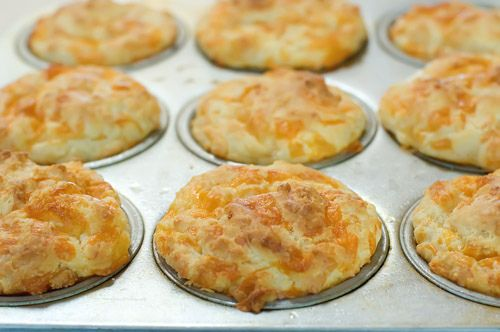 Cheese Muffins - The Pioneer Woman; I added half a chopped yellow onion to the wet ingredients
