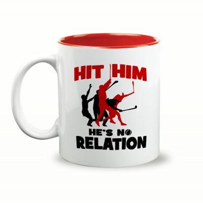 Hit Him, He's No Relation Gift Mug & Box by HairyBaby.com