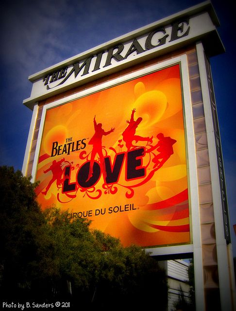 Mirage - Las Vegas  Saw the Beatles show Love   God knows my husband Louie looks like John Lennon. Couldn't miss that baby.