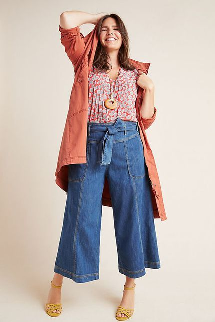 72a6c6cccc50 10 Pieces From Anthropologie Plus Size   My Style   Cropped wide leg ...