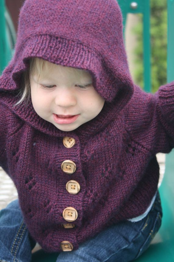 Free Knitting Pattern Pixie Hood : Hand knit childrens Cardigan with pixie hood Products I ...