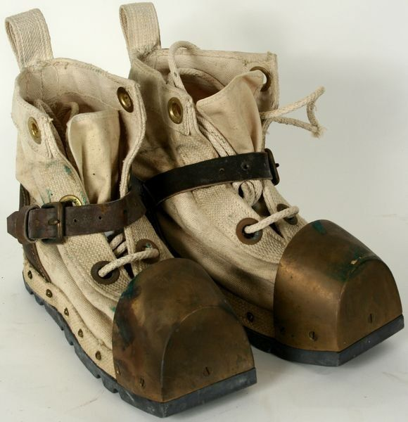 Leather/Brass Diving Boot