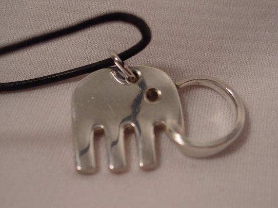 ! Elephant necklace made out of a fork,Silverware Jewelry: Spoon Bracelets, Fork Rings And More