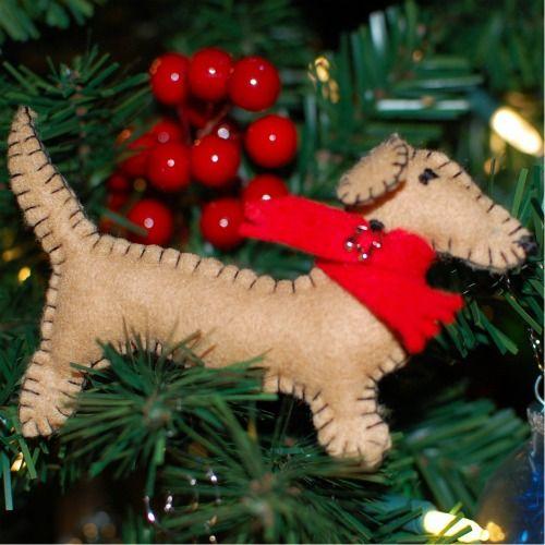 Great tutorial for felt dog handmade ornaments.  Make a Corgi for mum & dad!  So cute!