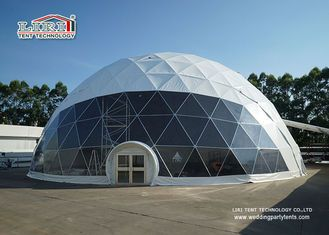 China 25m Special Portable Geodesic Dome Tents , Transparent Pvc Dome Tent for Outdoor Party supplier