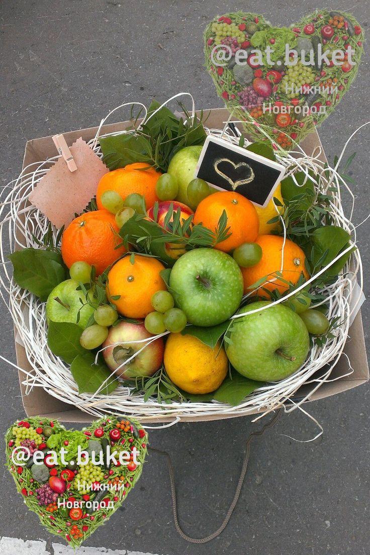Большой фруктовый букет Нижний Новгород заказать из фруктов овощей вкусный съедобный на заказ