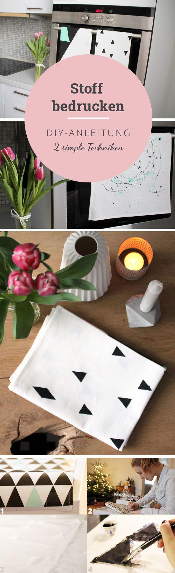 die besten 25 stoff bedrucken ideen auf pinterest. Black Bedroom Furniture Sets. Home Design Ideas