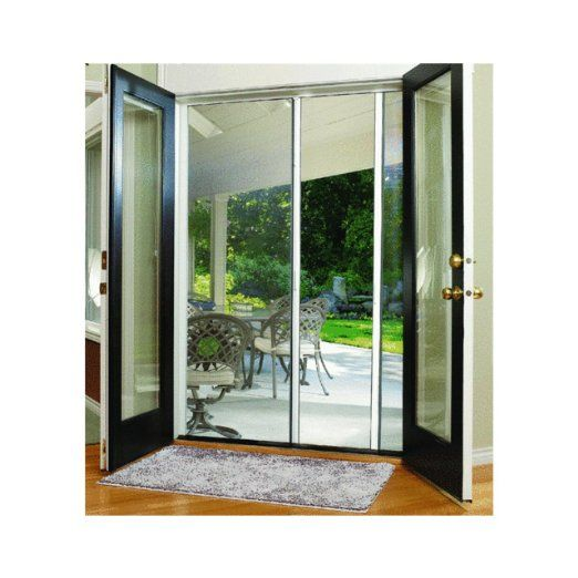 Larson mfg e200 retractable screen door 290 for the for Retractable double garage door screen