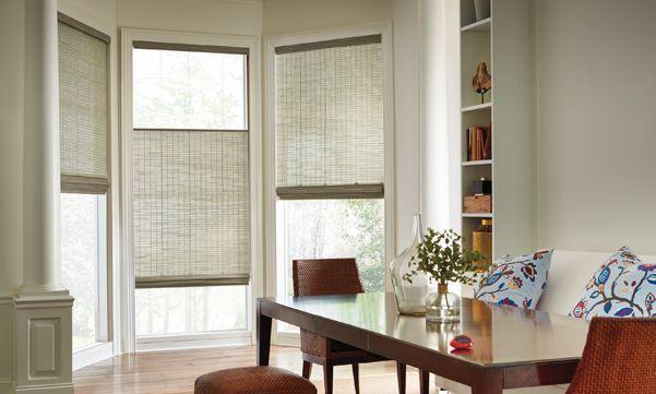 Bay Window Treatments Woven Wood Shades Wood Shades Bay Window Treatments