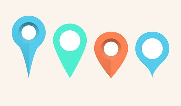 Map pins & markers PSD