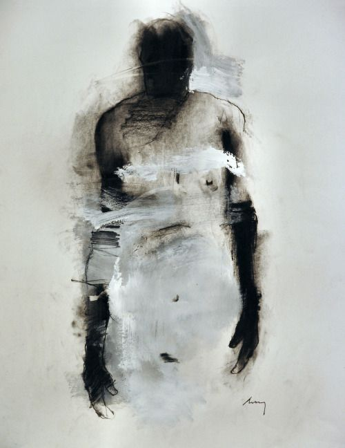 mefjus:  Harry Ally Figure #84 Charcoal & acrylic on paper