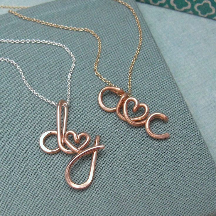 Rose Gold Personalized Initials by Laladesignstudio
