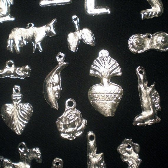 Lot of 25 Mexican religious altar milagros by ElSol on Etsy, $5.00