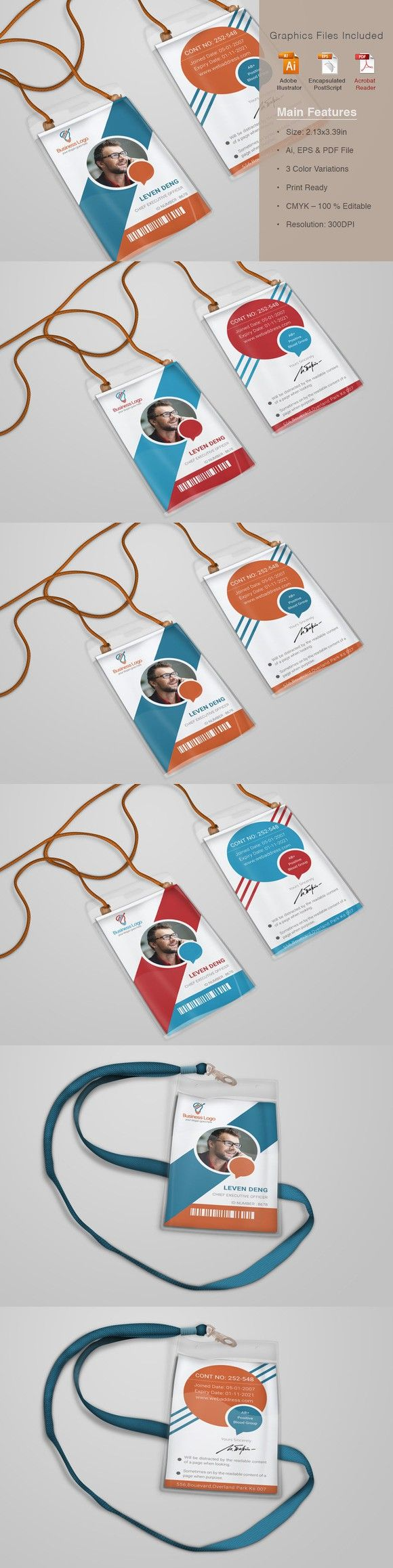 Dazzling Corporate Office ID Card. Creative Card Templates. $6.00