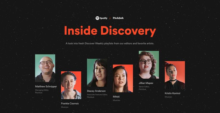 Spotify x Pitchfork: Inside Discovery - Site of the Day July 28 2016
