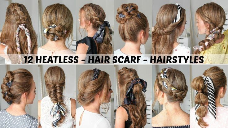 12 Hair Scarf Hairstyles   Back to School   Missy Sue - YouTube #Shorthairbun