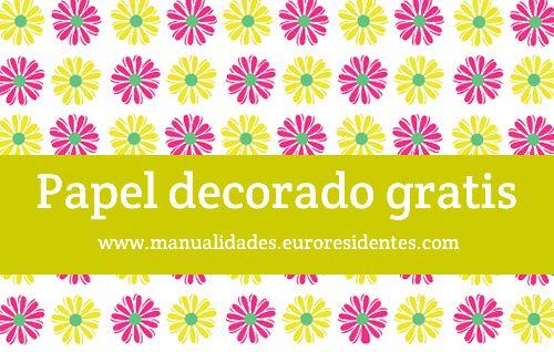 Papel estampado con margaritas para imprimir gratis: http://manualidades.euroresidentes.com/2013/04/papel-estampado-para-imprimir.html