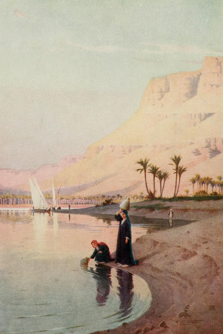 Kelly, Robert Talbot (1861-1934) - Egypt 1903, Gibel Kasr-El-Saad. #nile, #egypt, #africa