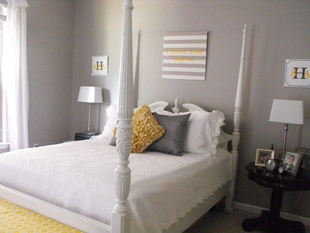 Painted rice bed, wall color, actually...I love everything about this room!
